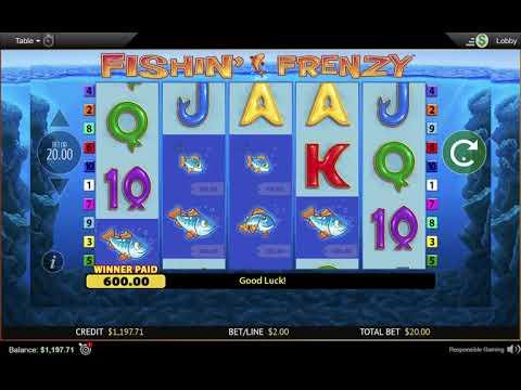 Fishin Frenzy Real Money Slot Machine Big Win