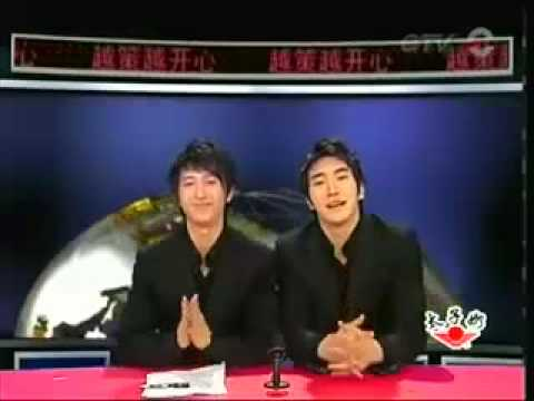 SUPER JUNIOR M Hangeng & Siwon - Talk Show + NG shots in a Chinese TV show [eng]