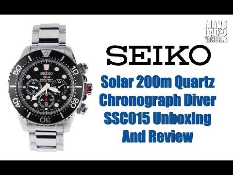 Seiko Solar 200m Quartz Chronograph Diver SSC015 Unboxing And Review | New Legend!