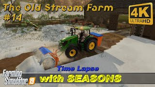 Gambar cover Animal care, cultivating, ploughing snow | The Old Stream Farm with Seasons #14 | FS19 Timelapse