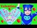 PJ Masks Catboy TRANSFORMS Playhouse into Valentine's Day House with Gekko & PJ HQ