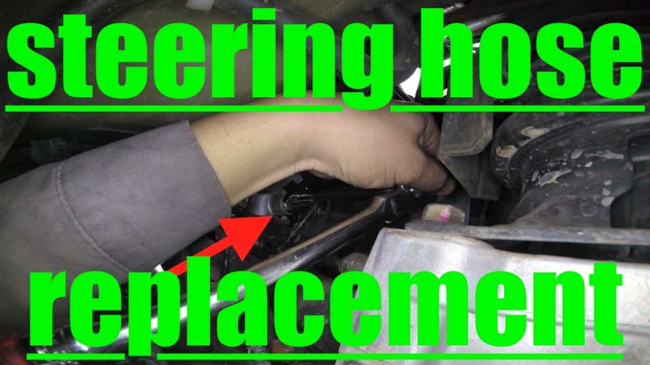 hight resolution of true diagnose replace bleed power steering hose honda odyssey fix it angel youtube