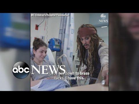 Johnny Depp shows up as Capt. Jack Sparrow at children