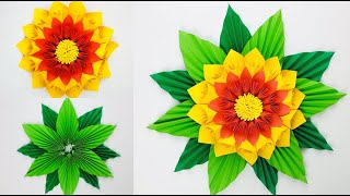 Paper Crafts For School | Paper Leaves | Paper Flowers Easy | Paper Flower Making | Paper Leaf