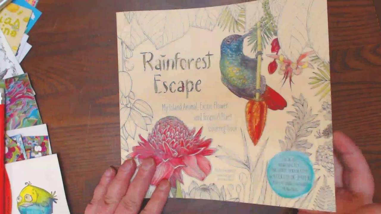 Watercolor paper coloring book -  Rainforest Escape Coloring Book Reviews