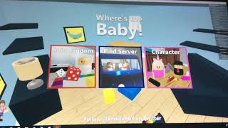 Roblox,Where's the baby! Lets play 1! (My 1st video)