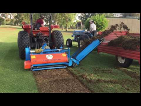 Harvesting Grass For Sprigging   Turf Equipment Source