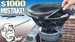 Breaking a $1000 Subwoofer BY ACCIDENT... (the stuff you don't see)