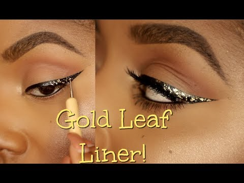 How To: Gold Leaf Wing Liner Makeup Tutorial   Ellarie