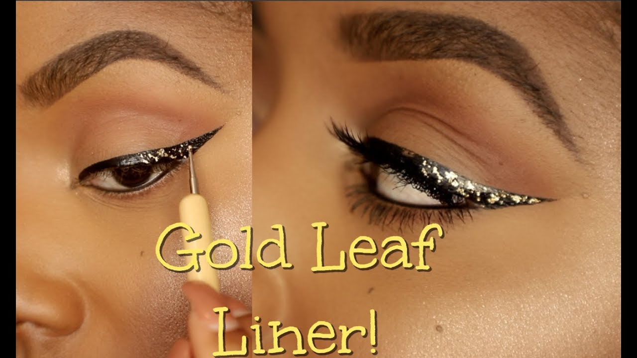 How To Gold Leaf Wing Liner Makeup Tutorial Ellarie Youtube