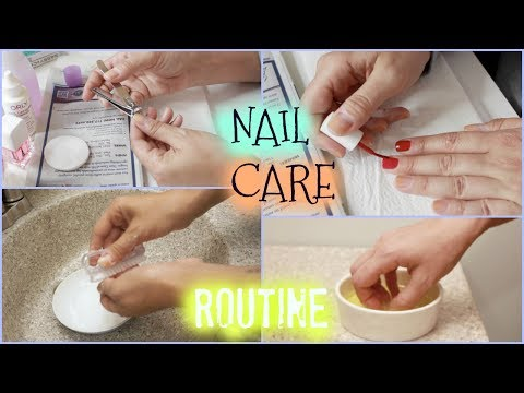 MY IN DEPTH NAIL CARE ROUTINE | WHITENING, CUTICLE SOAK, HOW TO POLISH, FILING, CLEANING UP