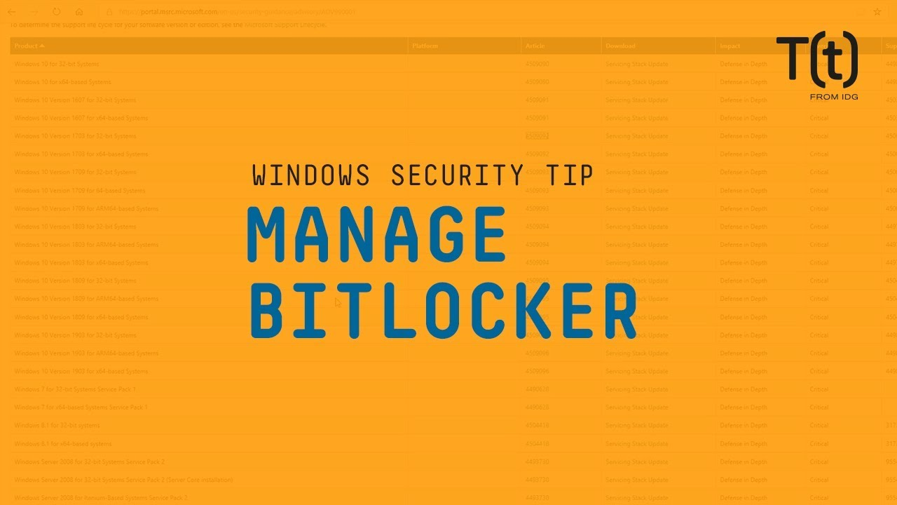 How to manage Microsoft's BitLocker encryption feature | CSO