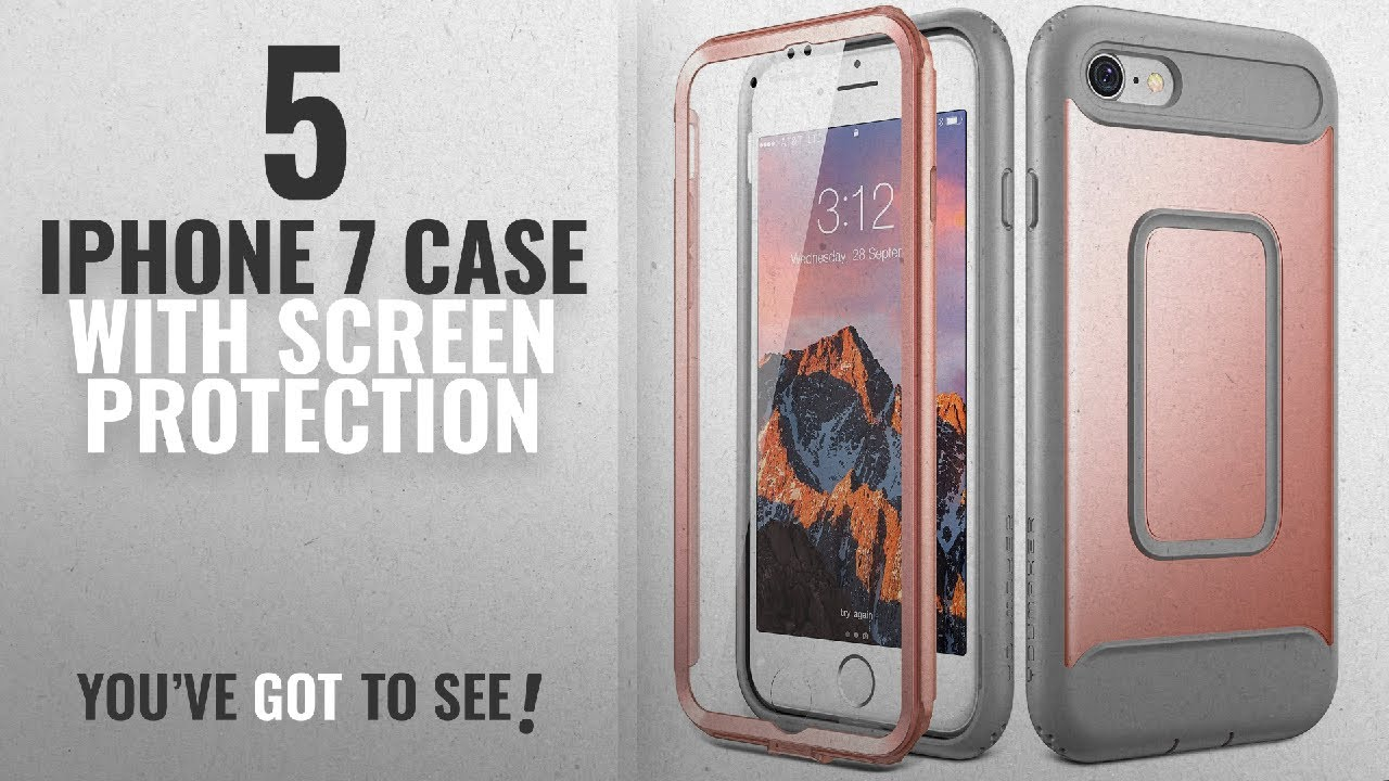 buy popular 3b70b b1480 Top 5 IPhone 7 Case With Screen Protection [2018 Best Sellers]: iPhone 8  Case, iPhone 7 Case,