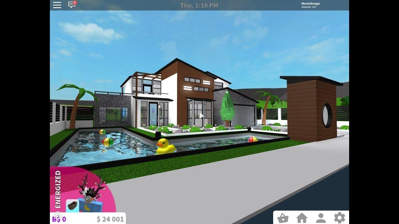 Modern Oceanic Villa 234k Cylito Remake Roblox Bloxburg Youtube