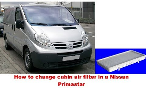 Nissan Primastar How To Change Cabin Air Filter Youtube