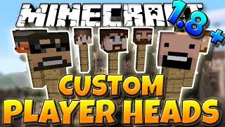 Minecraft 1.8.1 Tutorial | How to get Custom Player Heads In Minecraft 1.8.1 (No Mods)