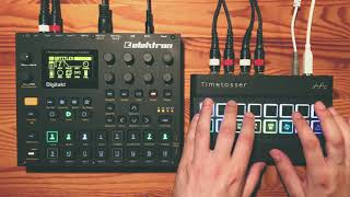 Alter Audio Timetosser - Demo & Tutorial with Digitakt, Prophet Rev2 and Microfreak