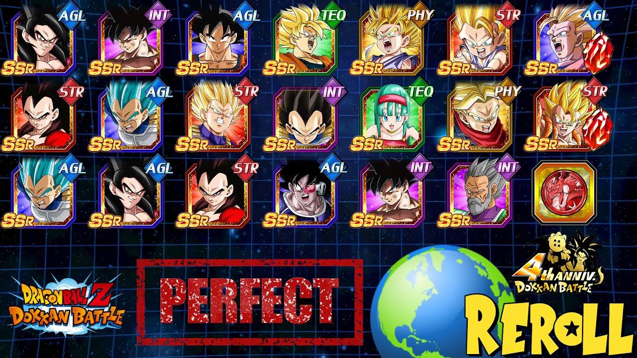 IT'S BACK!!! Perfect Reroll Guide/Tips - Global 4 Year Anniversary LR SSJ4  | DBZ Dokkan Battle