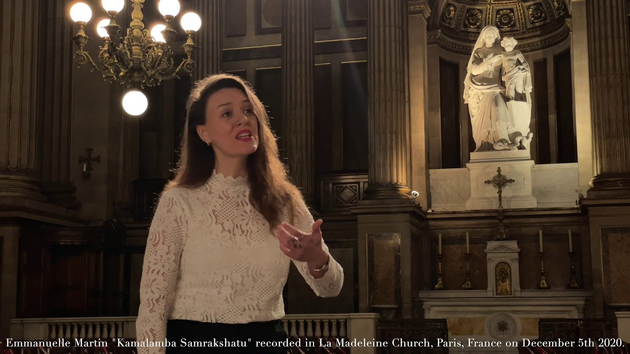A MARGAZHI IN PARIS//Kamalamba, Emmanuelle Martin, Eglise de la Madeleine,  Paris, 5.12.2020
