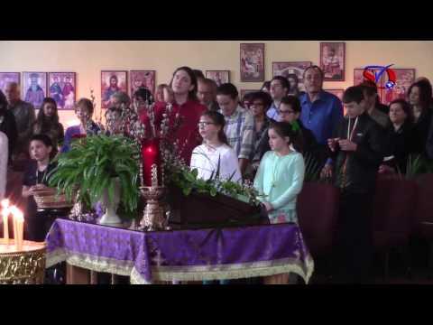 Crkva Sv. Vasilije Ostroski - Lake Forest Illinois - praznik Cveti - Serbian Television