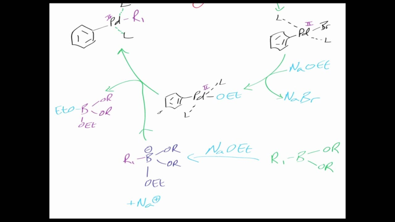The Suzuki reaction: Reaction mechanism chemistry tutorial. - YouTube
