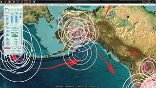 7/22/2019 -- New spread of Earthquakes across Pacific -- Day 9 of 10 day watch for LARGE EQ
