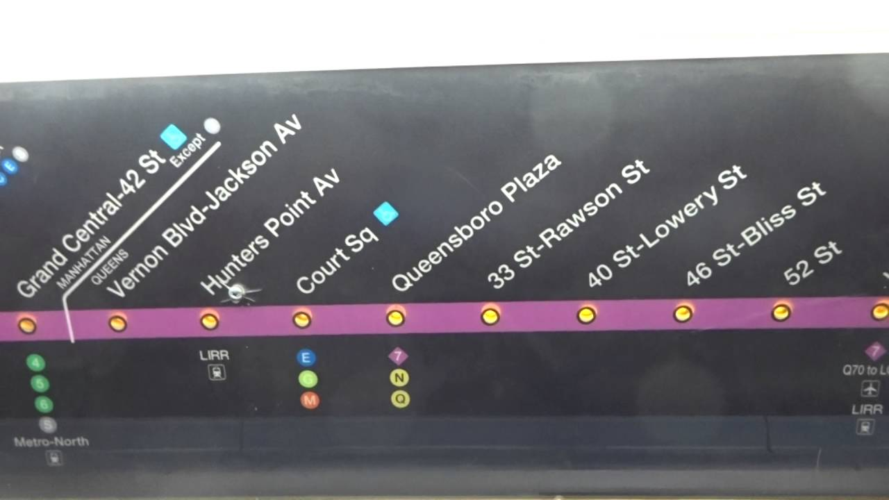 Mta Subway Map 7 Train.Nyc Subway R188 7 Strip Map With Q44 Sbs