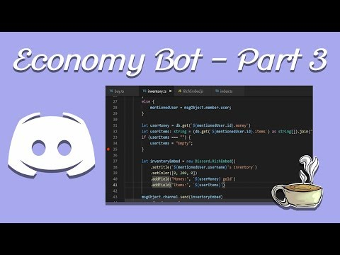 Coding Your Own Discord Bot - Discord js - Economy Bot - Part 2