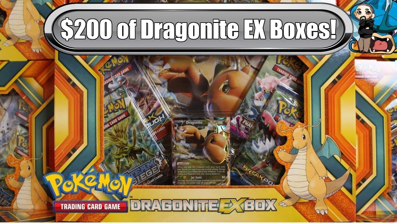 opening 10x dragonite ex boxes 200 worth pokemon