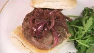 Home-made Lamb & Cumin Burger With Red Onion Marmalade Recipe From Waitrose