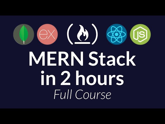 Learn the MERN Stack - Full Tutorial (MongoDB, Express, React, Node.js)