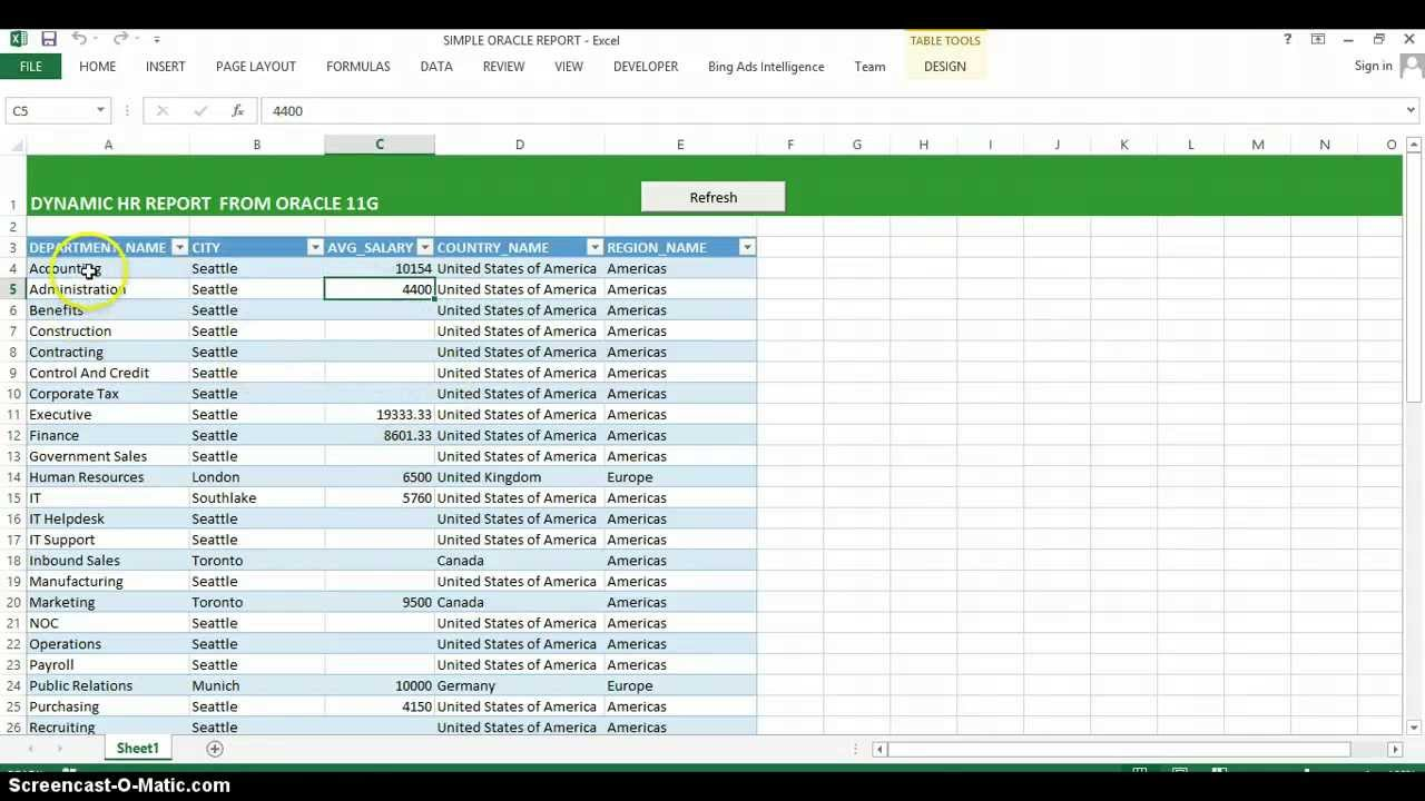 Connect Excel to Oracle Database