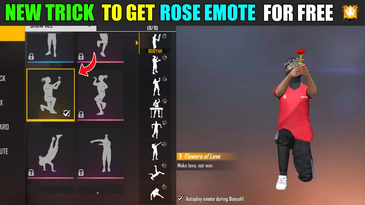 Download FREE FIRE NEW TRICK TO GET ROSE EMOTE FOR FREE ❤️ || SK VS SK GAMING