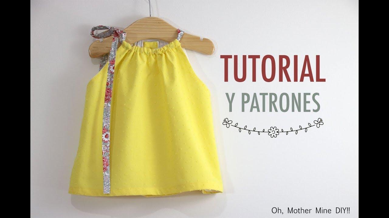 da58fd306 Costura vestido halter para niñas (patrones gratis) - YouTube