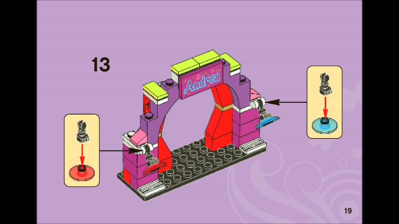 Lego Friends 3932 Andreas Stage Building Instructions Youtube