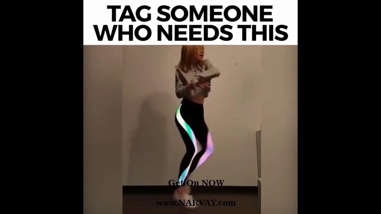 a23e9d70b28a4 Rainbow Yoga Fitness leggings Pants Sportswear Glow - YouTube