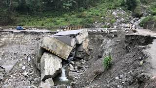 Massive Landslide Under Highway 310A Near Mangan North Sikkim India
