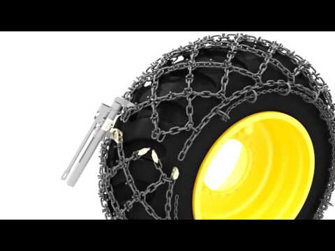 TRYGG U-Grip tire chain installation