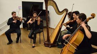 Einaudi Primavera for harp and string quartet