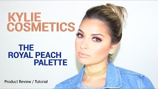 Kylie Cosmetics THE ROYAL PEACH PALETTE Product Review / Tutorial