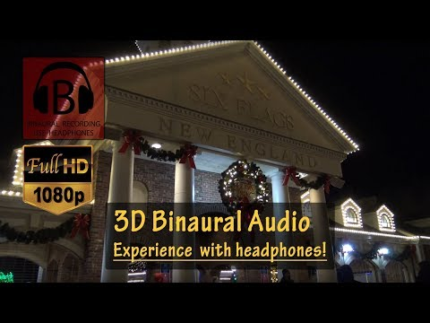 [HD, 3D Audio] Holiday in the Park Complete Walkthrough Experience (2017) - Six Flags New England
