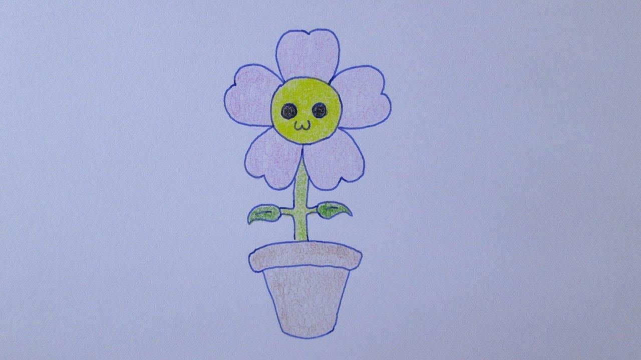 como desenhar uma flor muito fofa youtube