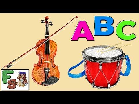 Fairy alphabet /  ABC songs/ musical instruments, part 1 /  Nursery Rhymes /  cartoon for kids/FS