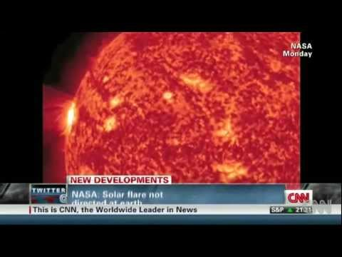 CNN-A massive M-1 Solar Flare 25 times the size of Earth exploded off the Sun! (April 18, 2012)