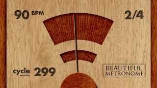 90 BPM 2/4 Wood Metronome HD