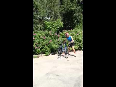 видео: Выход с транзитной зоны после плавания на велоэтап