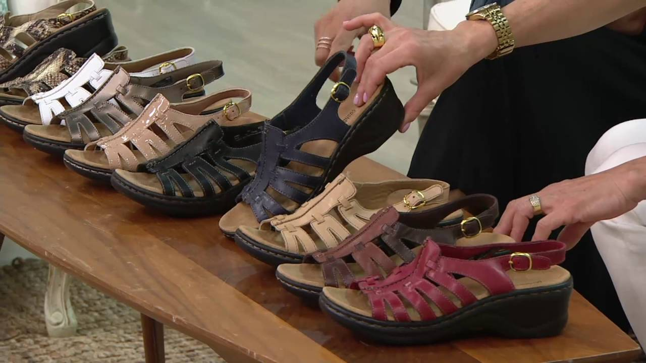 6404a89d670 Clarks Leather Lightweight Sandals - Lexi Marigold on QVC - YouTube