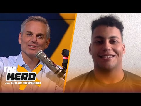 Rashawn Slater on being selected by Chargers, Justin Herbert, Draft day experience | NFL | THE HERD