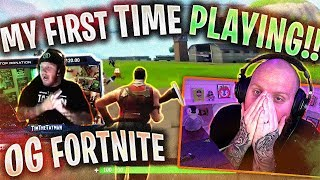 TIMTHETATMAN REACTS TO FIRST FORTNITE GAME EVER