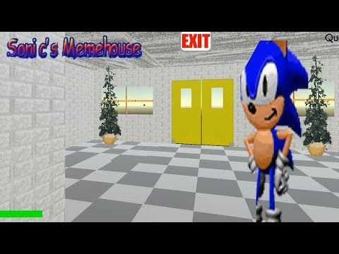 Sonic's Memehouse - Baldi's Basics Mod Full game